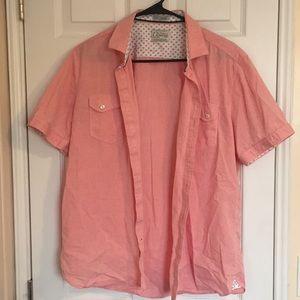 Vintage 7 Diamonds Men's Button Up T-shirt